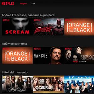 Netflix, da poco in Italia, è attivo anche in TOP-IX