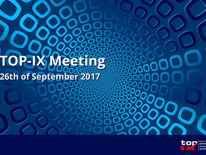 TOP-IX Meeting: 26th of September