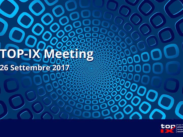 TOP-IX MEETING: 26 Settembre
