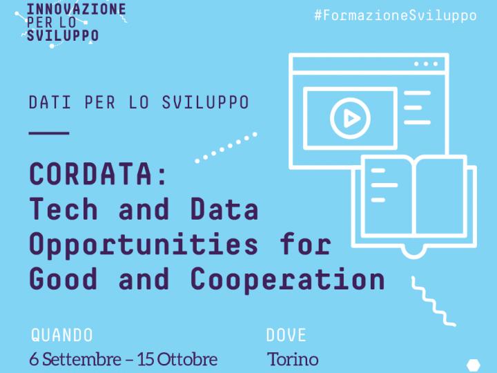 Una nuova iniziativa nell'ambito Data4Good e CivicTech: al Via CorDATA